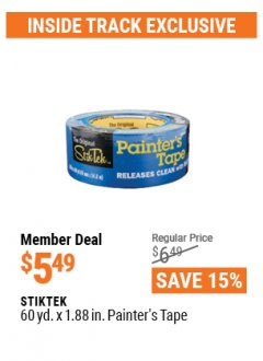 Harbor Freight ITC Coupon STIKTEK 60YD. X 1.88IN. PAINTER'S TAPE Lot No. 63243 Expired: 4/29/21 - $5.49