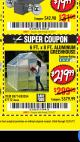 Harbor Freight Coupon 6 FT. x 8 FT. ALUMINUM GREENHOUSE Lot No. 47712/69714 Expired: 12/31/17 - $219.99