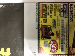 Harbor Freight Coupon 8750 PEAK / 7000 RUNNING WATTS 13 HP (420 CC) GAS GENERATOR Lot No. 68530/63086/63085/56169/56171/69671/68525/63087/63088/56168/56170 Expired: 11/3/18 - $529.99