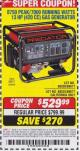 Harbor Freight Coupon 8750 PEAK / 7000 RUNNING WATTS 13 HP (420 CC) GAS GENERATOR Lot No. 68530/63086/63085/56169/56171/69671/68525/63087/63088/56168/56170 Expired: 6/17/15 - $529.99