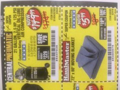 Harbor Freight Coupon 2.5 HP, 21 GALLON 125 PSI VERTICAL AIR COMPRESSOR Lot No. 67847/61454/61693/69091/62803/63635 Expired: 3/26/19 - $149.99