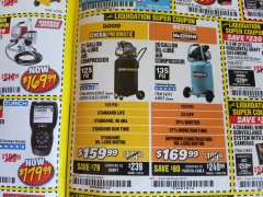 Harbor Freight Coupon 2.5 HP, 21 GALLON 125 PSI VERTICAL AIR COMPRESSOR Lot No. 67847/61454/61693/69091/62803/63635 Expired: 4/30/19 - $159.99