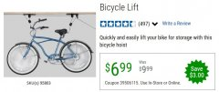 Harbor Freight Coupon BICYCLE LIFT Lot No. 95803 EXPIRES: 6/30/20 - $6.99