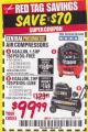 Harbor Freight Coupon 2 HP, 8 GALLON 125 PSI PORTABLE AIR COMPRESSOR Lot No. 67501/68740/69667/40400/95386 Expired: 1/31/18 - $99.99