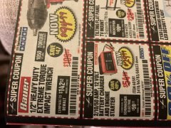 Harbor Freight Coupon 12 VOLT, 2/10/50 AMP BATTERY CHARGER/ENGINE STARTER Lot No. 66783/60581/60653/62334 Expired: 9/30/19 - $29.99