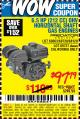 Harbor Freight Coupon PREDATOR 6.5 HP (212 CC) OHV HORIZONTAL SHAFT GAS ENGINES Lot No. 60363/68120/69730/68121/69727 Expired: 9/8/15 - $97.79